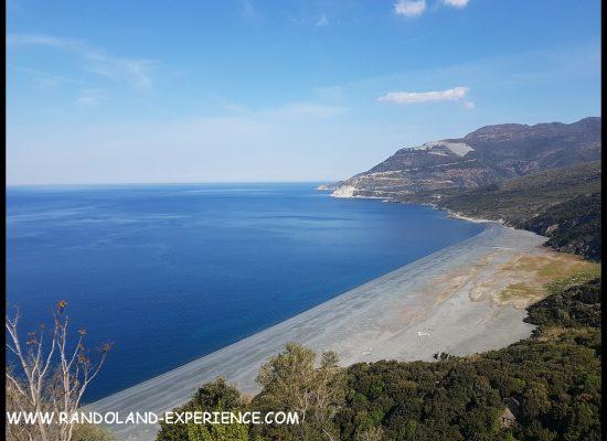 Corse 2019 Nonza plage de sable noir