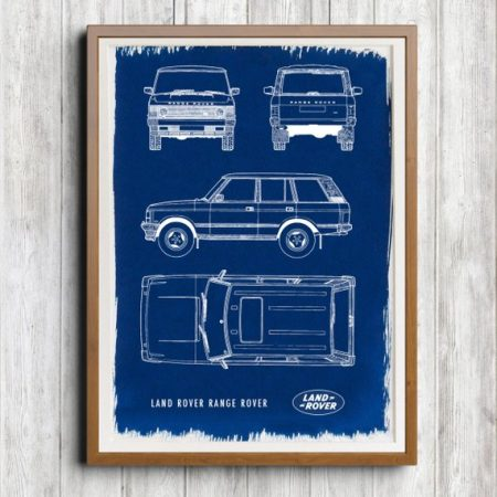 Range-Rover tableau bleu